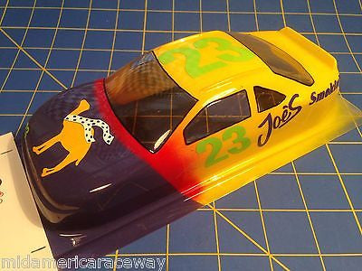 Painted 4.5 inch Stock Car #23 Smoking Joe's 1/24 Slot from Mid America Raceway