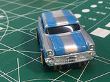 Blue Silver Nomad by Johnny Lighting  Tomy Turbo chassis from MidAmerica Raceway