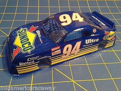 Painted 4 inch Stock Car #94 Sunoco 1/24 from MidAmerica Raceway
