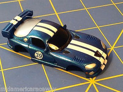 Blue w/ White Stripes Dodge Viper GTS American Line Body HO AML B450-BL
