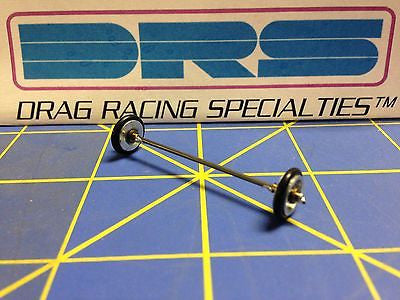DRS 138 pre made Wheelie Bar Axle Wheels 1/24 Drag Slot Car Mid America Raceway