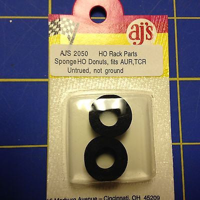 AJ'S 2050 Sponge  Black Tires fits AUR , TCR  HO cars untrued, not ground