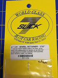 SLICK-7  S7-129 wheel Retainer 1/16 Axle 1/24 slot car Mid America Raceway