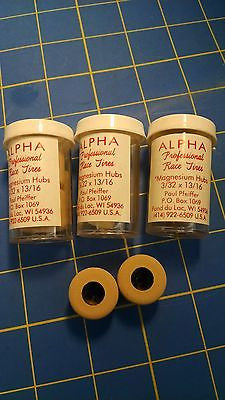 Alpha A7 3 Pairs 13/16 tall 3/32 axle Tan Colored Rubber from Mid America