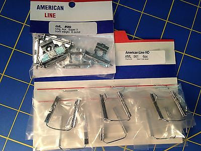 6 Aurora AFX Super II Slot Car Side and Front Weight Kits Mid America Raceway