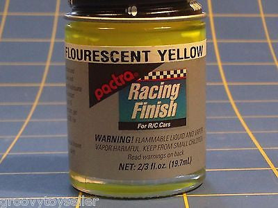 Pactra RC79 Fluorescent Neon Yellow Lexan Paint  2/3 oz Mid America