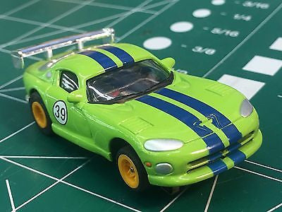 Green Viper by Johnny Lighting  Tomy Turbo chassis from MidAmerica Raceway