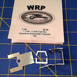WRP Products C-08 Drag Sidewinder Chassis Kit for tall tires 1 1/16 to 1 3/16