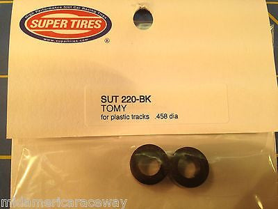 Super Tires HO Tires for Tomy SRT & Turbo 1/64 slot car from Mid America 220-BK