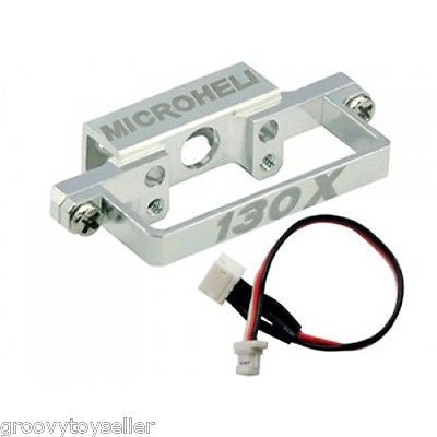 MicroHeli MH-130X021C Aluminum DS35 Tail Servo Mount with Cable: Blade 130 X