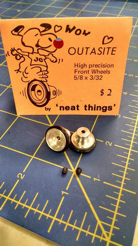 Neat Things High Precision Front Wheels 5/8x3/32 1/32 slot car Mid America Nap