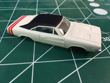 White Dodge Charger American Line T-Jet Repop Body HO From MidAmerica Raceway