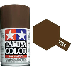 Tamiya TS-1 Red Brown Spray Paint Can 3.35 oz 100ml 85001 Mid-America Naperville
