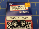 Pro Track 514 Daytona stockers .855 x .300 wide Tires 1/8 axle Mid America