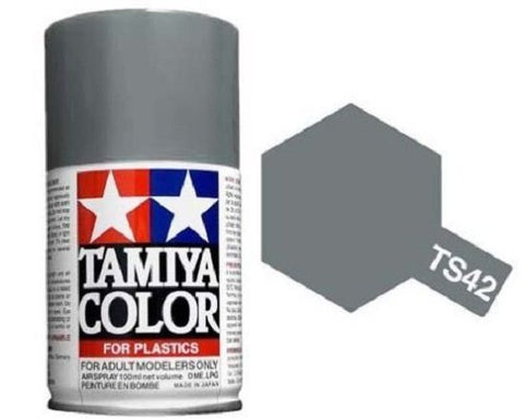 Tamiya TS-42 Light Gun Metal Spray Paint Can 3.35 oz 100ml Mid-America