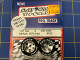 Pro Track 520 Daytona stockers 1.01 x .500 wide Tires 1/8 axle Mid America