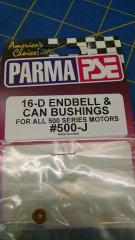 Parma 500-J 16-D Endbell & Can Bushings 1/24 Mid America Raceway Naperville