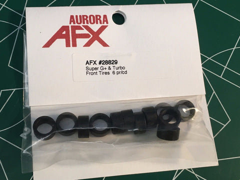 AFX Turbo Super G + Front Tires - 6 Pairs - AFX-28829 from Mid America Raceway