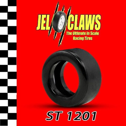 ST1201 - 1/32 Scale Jel Claws Slot Car Racing Tires. Carrera Nascar CoT