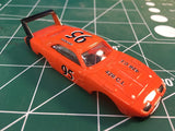 Orange Dodge Daytona American Line T-Jet Repop Body HO From Mid-America Raceway