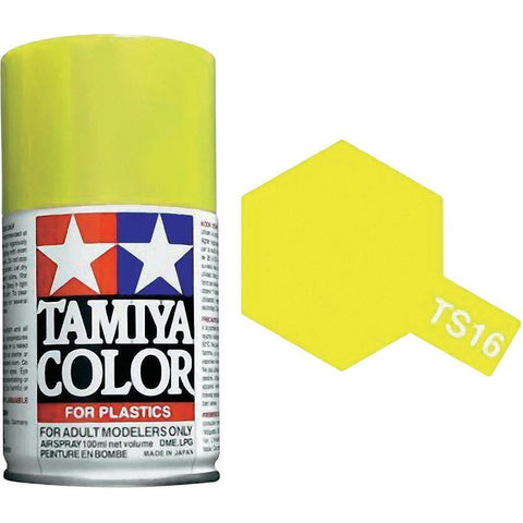 Tamiya TS-16 YELLOW Spray Paint Can 3 oz 100ml 85016 Mid-America Naperville