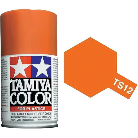 Tamiya TS-12 ORANGE Spray Paint Can 3 oz 100ml 85012 Mid-America Naperville