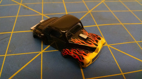 Black / Orange Willys Gasser American Line Body HO Mid America AML B400