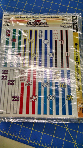 Ultracal 3321 Vintage Racing Stripes and Number Decals 1/32 from Naperville