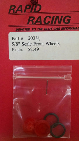 "Rapid Racing #203 Red 5/8"" Scale Front Wheels from Naperville"