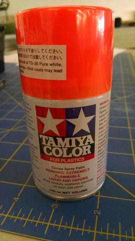 Tamiya TS-96 Fluorescent Orange Spray Paint Can 3oz 100ml-Mid America Naperville
