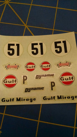 Dynamic 5514 51 Gulf Mirage Decals from Mid America Naperville