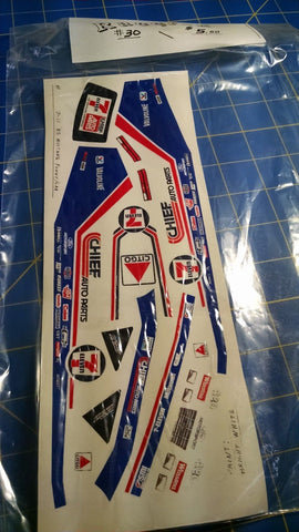 Racer-X #30 7-11 '85 Mustang Funny Car Decal from Mid-America Naperville