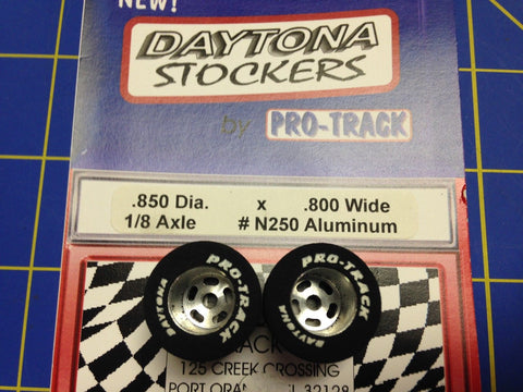 Pro Track N250 Daytona stockers .850 x .800 rear Tires 1/8 axle Mid America