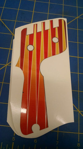 Controller Wraps Red & Yellow Stripes 1/24 slot car Mid America Naperville
