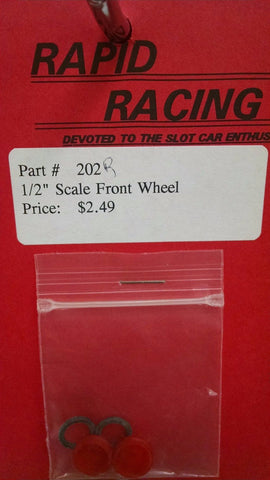 "Rapid Racing #202 Red 1/2"" Scale Front Wheel from Mid-America Naperville"