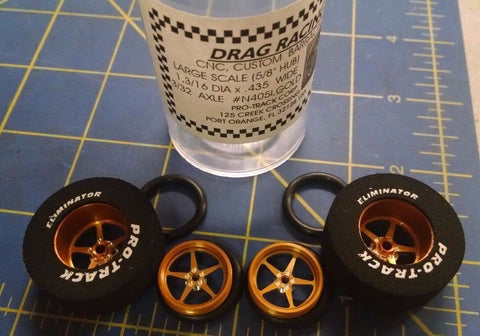 Pro Track N405I Gold Pro Stars 1 3/16 x 435 Rear & Front Drag Tires Mid America