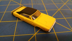 Yellow Dodge Charger American Line T-Jet Repop Body HO Mid America AML B407-Y