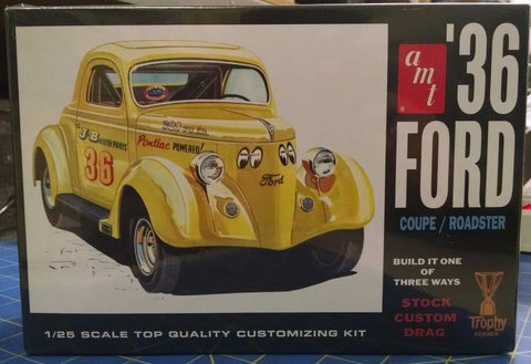 AMT '36 Ford Coupe/Roadster 824/12 1/25 Model Kit Mid-America