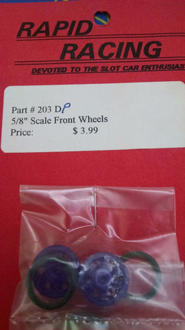"Rapid Racing #203D-Purple 5/8"" Drilled Scale Front Wheels from Naperville"