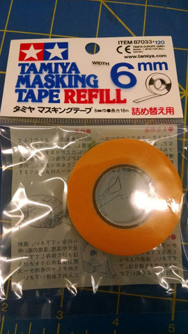 Tamiya 87033 Masking Tape 6mm Refill Ships from America From Mid America