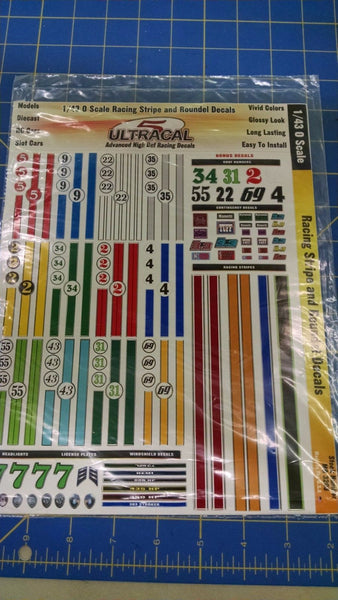 Ultracal 3203 Racing Stripe and Roundel Decals 1/43 0 from MidAmerica Naperville