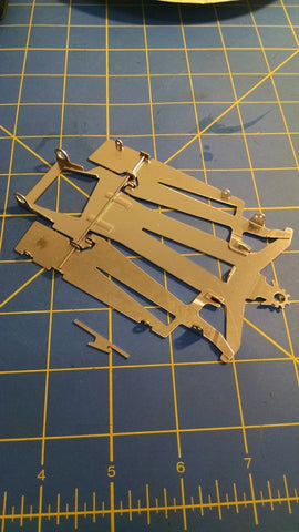 "JK 25011C 4"" Cheet 11 Chassis Kit .030 1/24 Chassis Kit Slot Car Mid America"
