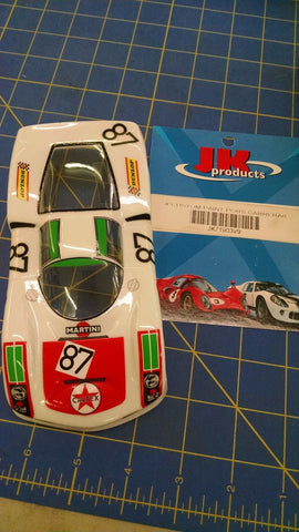 JK Custom Painted Porsche Carrera 6 1/24 slot car body Mid America Naperville