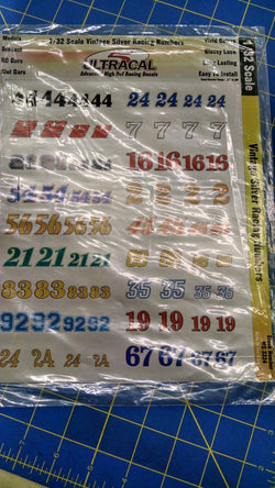 Ultracal 3324 Vintage Silver Racing Numbers Decals 1/32 from Naperville