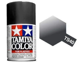 Tamiya TS-40 Metallic Black Spray Paint Can 3.35 oz 100ml Mid-America Naperville