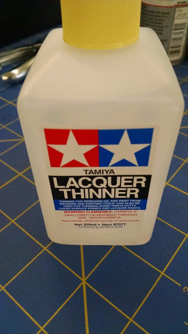 Tamiya 87077 Lacquer Thinner 250ml-Mid America Naperville