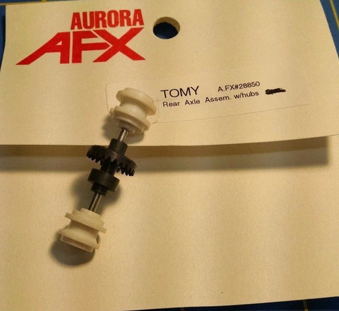 Tomy AFX 28850 Super G+ Rear Axle Assembly w/ Hubs Mid America Raceway