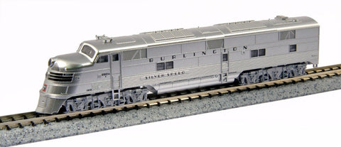 "KATO N GAUGE 176-5401 EFA CB&Q 9910A ""SILVER SPEED"" from Mid-America Naperville"