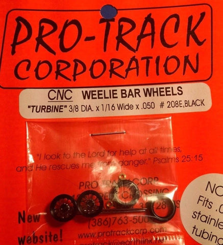 Pro-Track #208E Black Weelie Bar Wheels Turbine from Mid-America Naperville