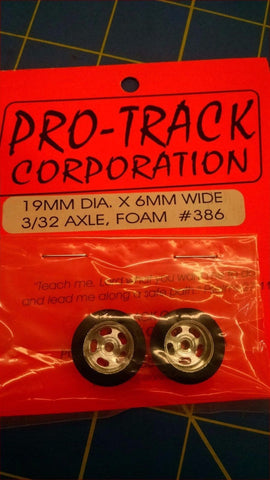 Pro-Track #386 19MM DIA X 6MM WIDE 3/32axle FOAM from Mid-America Naperville